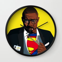 Superman with Swag Wall Clock