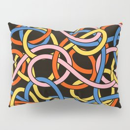 Knots - Memphis Milano Pasta Spaghetti Fork food graphic 80s 90s Kitchen Home Pillow Sham
