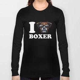 I Love Boxer modern v2 Long Sleeve T-shirt