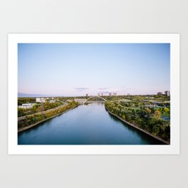 Walterdale Bridge Art Print