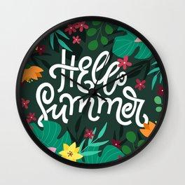 Hello Summer! Wall Clock
