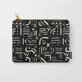 Heiroglyph in black Carry-All Pouch