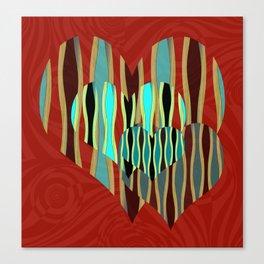 Love Exotic Hearts Canvas Print