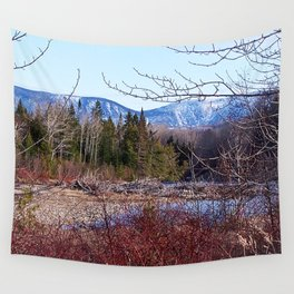 The Way to the Mountain Wall Tapestry