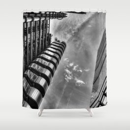 Lloyd's and the Cheese Grater  Shower Curtain