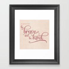 baby we'll be fine Framed Art Print