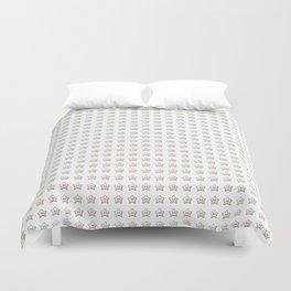 Pixel Star Pattern Duvet Cover