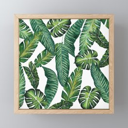 Jungle Leaves, Banana, Monstera II #society6 Framed Mini Art Print