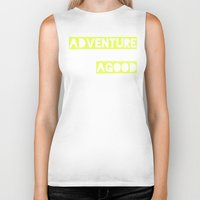 adventure Biker Tanks featuring Adventure by Tina Crespo