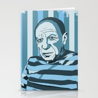 picasso Stationery Cards featuring Picasso by Alex Bardera