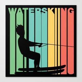 Retro Style Waterskiing Waterskier Canvas Print