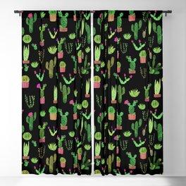 Watercolor cacti Blackout Curtain