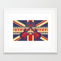 british Framed Art Prints featuring British Rock by Ornaart