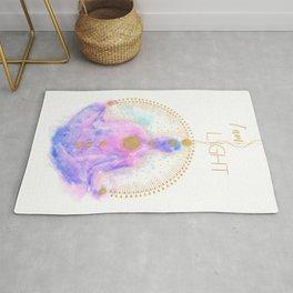 I am Light Affirmation | Modern Energy Art | Watercolor Meditation Spiritual Illustration Rug