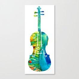Abstract Violin Art by Sharon Cummings Canvas Print
