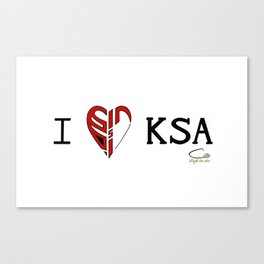 I 'heart' KSA Canvas Print