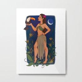Yanomami Princess Metal Print
