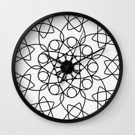love mandala number 5 - mystery Wall Clock