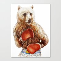 foo fighters Canvas Prints featuring Bear Fighters. by beart24