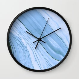 Currents of Blue Marble Pattern Wall Clock