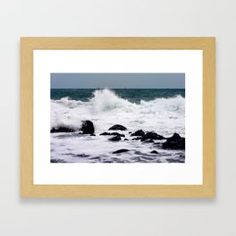 Ocean and Wave Framed Art Print