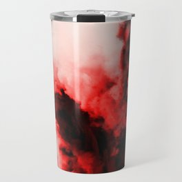 In Pain - Red And Black Abstract Travel Mug