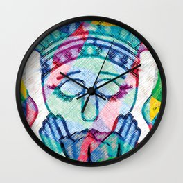 Kissed Tulips Logo Face Wall Clock
