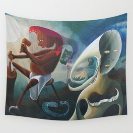 Self-Made Man and Empty-Headed Woman (1994) Wall Tapestry