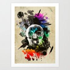 skull explosion Art Print