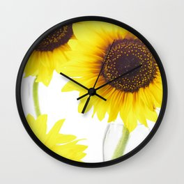 Three Sunflowers Wall Clock