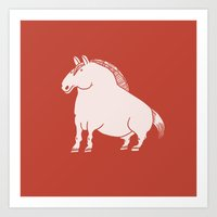 pony Art Prints featuring Pony  by Marc Mif