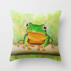 Taipei TreeFrog Throw Pillow