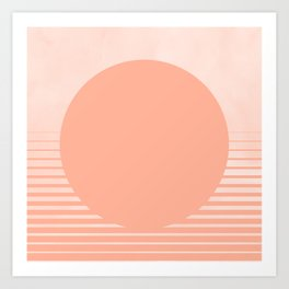 The Sweet Life Collection - Peach Coral Sun Gradient Kunstdrucke