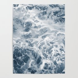 Pacific Ocean Waves Pattern Aerial Photography Poster