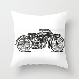 Motorcycle 2 Throw Pillow
