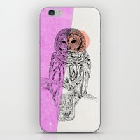 techno iPhone & iPod Skins featuring Techno Owl by Zeke Tucker