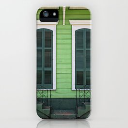 Green Creole Cottage iPhone Case