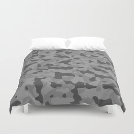 Camouflage Gray Duvet Cover
