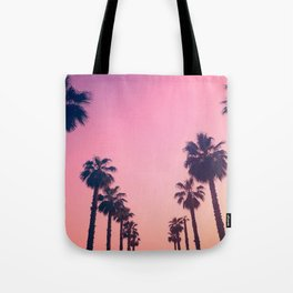 Pink Sunset at the Beach Tote Bag