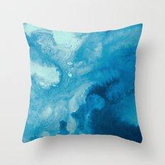 inkblot marble 11 Throw Pillow