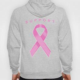 Pink Awareness Ribbon Hoody