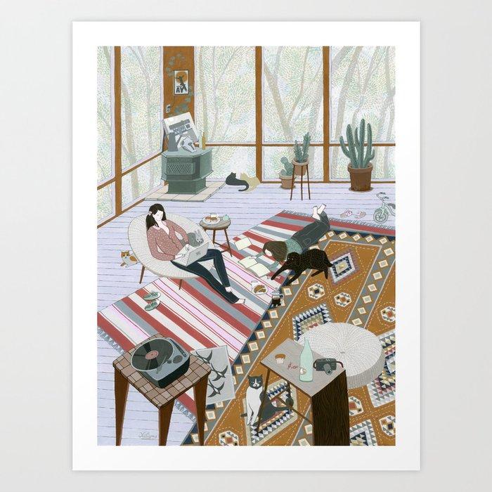 Sisters Room Art Print