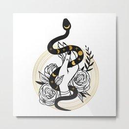 Snake Hand Metal Print