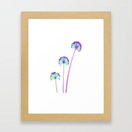 three flowers 3 . blue Framed Art Print
