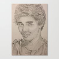 liam payne Canvas Prints featuring Liam Payne by vanessa