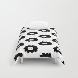 Mod Florals on White Comforters