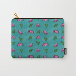 Watermelon, Cactus, Repeat, Pattern, Summer Carry-All Pouch