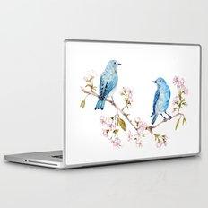 Mountain Bluebirds on Sakura Branch Laptop & iPad Skin