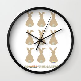 LGBT Go Wild This Easter Wall Clock