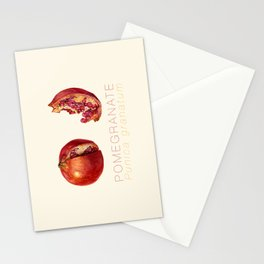 Pomegranate, Punica granatum Stationery Cards